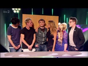 Dan on TV with Caroline Flack, Jamie Laing and more