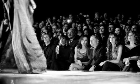 Milan Fashion Week, Women Fall Winter 2011/2012. Moda Donna, Autunno Inverno 2011/2012. Sfilata/show: Roberto Cavalli. Nella foto: Roger Taylor; kelly rowland, Mechelle Yeoh, Jean Todt, Gaia Bermani Amaral, Valeria Golino