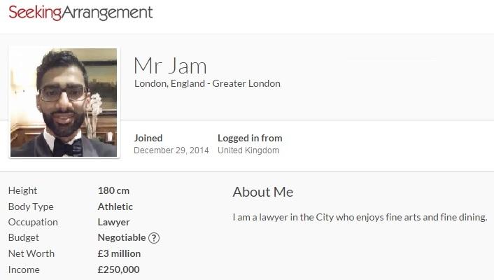 seeking arrangement london